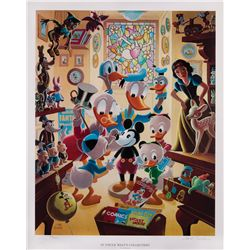 Carl Barks Limited Edition Signed Lithograph In Uncle Walt's Collectory