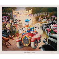 Carl Barks Limited Edition Signed Lithograph A 1934 Belchfire Runabout!