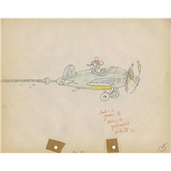 The Mail Pilot original production model drawing