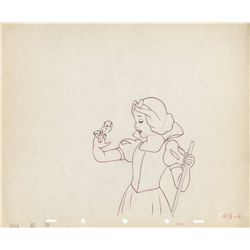 Original production drawing of Snow White from Snow White and the Seven Dwarfs