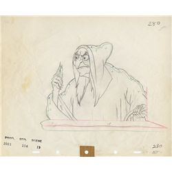 Original production drawing of the Hag from Snow White and the Seven Dwarfs