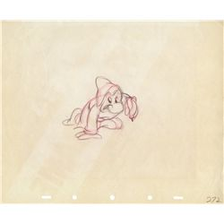 Pair of original production drawings of Grumpy from Snow White and the Seven Dwarfs
