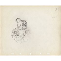 Pair of original production drawings of Sleepy from Snow White and the Seven Dwarfs