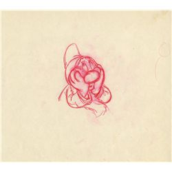 Original rough drawing of Sleepy from Snow White and the Seven Dwarfs
