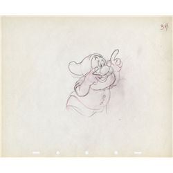Original production drawing of Doc from Snow White and the Seven Dwarfs