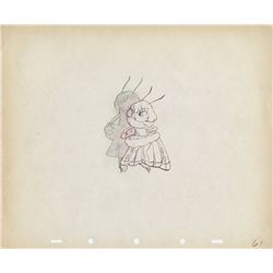 Original production drawing of the Moth from Moth and the Flame