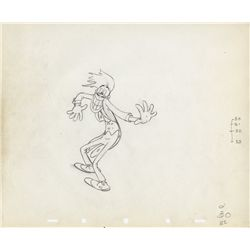 Original production drawing of Cab Calloway from Mother Goose Goes Hollywood