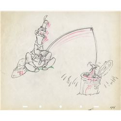 Original production drawing of Stan Laurel from Mother Goose Goes Hollywood