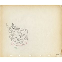 Pair of original production drawings of Marx Bros. from Mother Goose Goes Hollywood