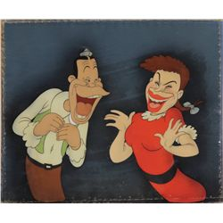 Joe E. Brown and Martha Rae original production cel from Mother Goose Goes Hollywood