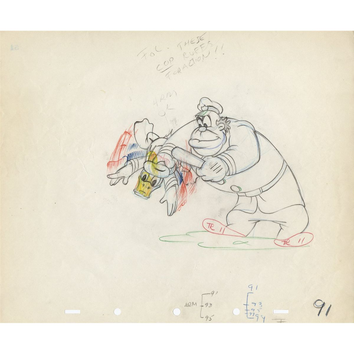 Original Donald Duck Drawing Drawing of Donald Duck And