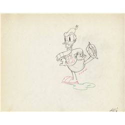 Pair of original production drawings of Donald, Huey, Dewey and Louis from The Hockey Champ