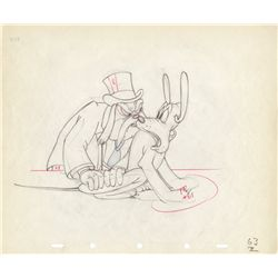 Original production drawing of Pluto and the Judge from Society Dog Show