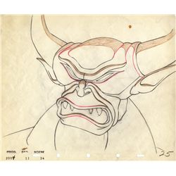 Chernabog original production drawing from Fantasia