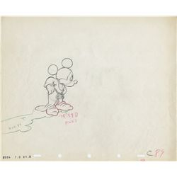 Original production drawing of Mickey Mouse from Fantasia