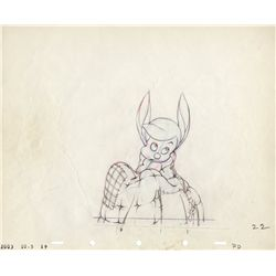 Original production drawing of Pinocchio