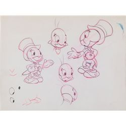 Original model drawing of Jiminy Cricket from Pinocchio