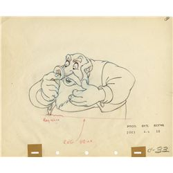 Original production drawing of Stromboli from Pinocchio