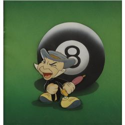 Jiminy Cricket with 8 ball cel from Pinocchio