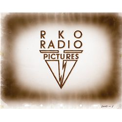 RKO Radio Pictures camera logo cel from Pinocchio