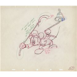 Original production drawing of Mickey Mouse from Tugboat Mickey