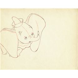 Original production drawing of Dumbo