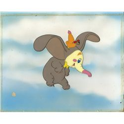 Original production cel of Dumbo flying