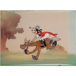 "Original production cel of Goofy from ""How to Ride A Horse"" sequence of The Reluctant Dragon"
