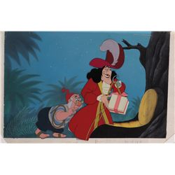 Captain Hook and Smee at Treehouse original production cels and production background from Peter Pan