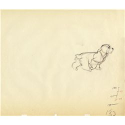 Original production drawing from Lady and the Tramp