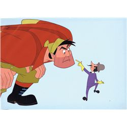 Original production cel of Paul Bunyan and Joe Muffaw from Paul Bunyan with Art Corner sticker