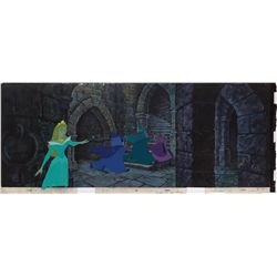 Mesmerized Aurora original production cel and production background from Sleeping Beauty