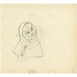 Three original production drawings of Aurora from Sleeping Beauty