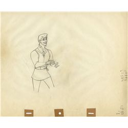 Pair of original production drawings of Prince Phillip and Briar Rose from Sleeping Beauty