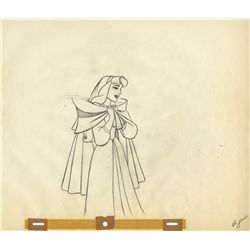 Pair of original production drawings of Briar Rose and Mock Prince from Sleeping Beauty