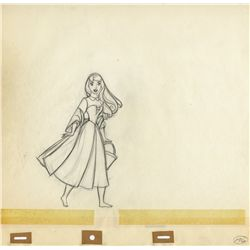 Three original production drawings of Briar Rose from Sleeping Beauty