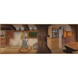 Briar Rose original production cel on pan custom background from Sleeping Beauty