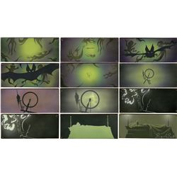 Collection of 12 original concept storyboard paintings by Eyvind Earle for Sleeping Beauty