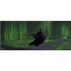 Maleficent original production cel and pan production background from Sleeping Beauty