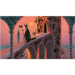 Original concept artwork of Maleficent from Sleeping Beauty by Eyvind Earle