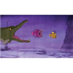 Wart as a fish original production cel from The Sword in the Stone