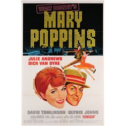 Mary Poppins lot of styles A & B original 1-sheet posters (2), plus (9) still photos