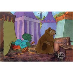 Original production cel of Alan A. Dale and Friar Tuck from Robin Hood