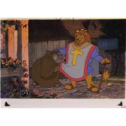 Original production cel of King Richard and Friar Tuck from Robin Hood