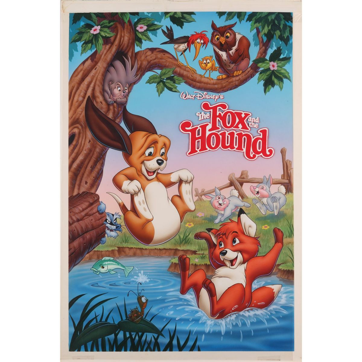 the fox and the hound original painting for rerelease