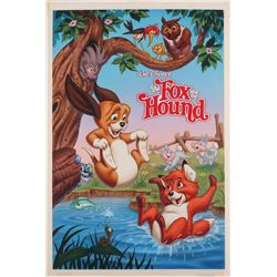 The Fox and the Hound original painting for re-release movie poster