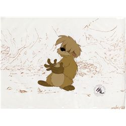 Pair of original production cels of Gurgi, Doli and King Eidilleg from The Black Cauldron