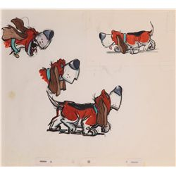 Original character concept artwork for Toby the Dog from The Great Mouse Detective