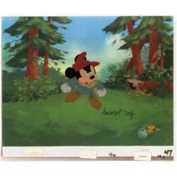 Original production cel of Mickey Mouse from The Prince and the Pauper signed Andreas Deja
