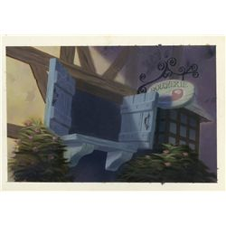 Original pre-production background from Beauty and the Beast